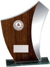 Mirror Trophy with Wood Effect